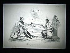 Incisione d'allegoria e satira Gen. Radetzky, Re Carlo Alberto Don Pirlone 1851