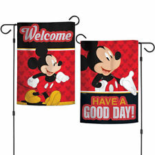 Mickey Mouse Have a Good Day Garden Flag Banner