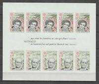 S36643 Monaco Europa Cept MNH 1980 S/S NOT Serrated Imperforated Y&t 18a