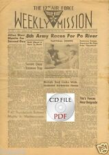 CD File 6 issues Weekly Mission 1944 12th Air Force Italy Metz Rome Prison PDF
