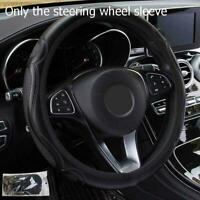 Black Car Steering Wheel Cover Quality Leather Breathable Anti-slip Best 37 E4Q6