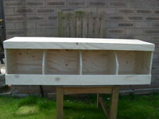Quad Chicken Nest Box / Coop Nest box for Poultry Birds / Hens / Pigeons