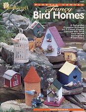 Fancy Bird Homes ~ Bird Cage Barn Birdhouses ~ 8 Designs plastic canvas patterns