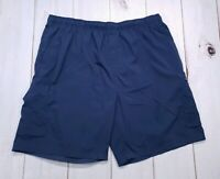 Men's Reebok 2XL Navy Blue Athletic Work Out Shorts XXL 2XL