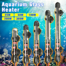 25/50/100/200/300W Aquarium Fish Heater Tank Automatic Water Thermostat W/ Cups