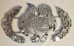 LENOX Rooster Trivet Expandable Williamsburg Collection