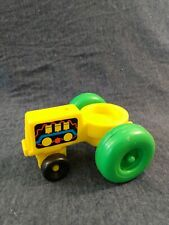 Vintage Fisher Price Little People YELLOW FARM TRACTOR Chunky People 1990