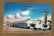 "Cairo,IL Illinois, City Motel ""Most modern in Southern Illinois"" used 1957"