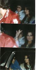 Elvis Presley & Ginger Alden 3 Photo Set in Back Seat of Limo 1977
