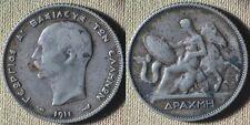 Greece : 1911(a) 1 Drachma  VF-XF   Toned #60  IR4498