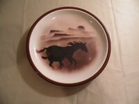 """Big Sky Carver """"Wild Horses 2"""" / Salad Plate 7 3/4 inch / Free Domestic Shipping"""