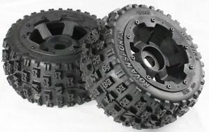 1/5 Baja Rear Bow Tie Type Tyres & Wheels Off Road Knobby Rovan Baja 5B