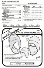 Tuck-Away Balaclava Face Mask Neck Warmer Hat #550 Sewing Pattern Only -- gp550