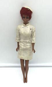 Vintage Barbie Nurse Julia Twist N Turn 1968 Red Hair Diahann Carroll Mattel