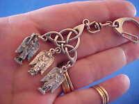 3 ARCHANGEL Key Chain Ring St MICHAEL GABRIEL RAPHAEL Trinity Knot Saint Medals