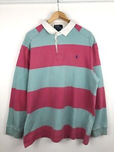 Polo Ralph Lauren Striped Mens Rugby Shirt Size XXL