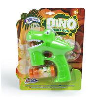 Dino Bubble Gun Bubbles Maker Battery Powered Party Outdoor Magical Kids Fun