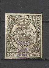 441-SELLO CLASICO AÑO 1892.5 CTVOS DE PESO. 4 MARGENES BUENOS .COLONIA ESPA