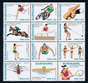 [SU1911] Suriname Surinam 2012 Olympic Games London  MNH