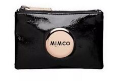 MIMCO Small Pouch Black Leather Wallet Purse Clutch Rose Gold BNWT RRP$69.95 New