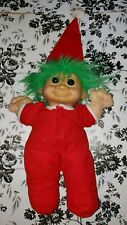 Rare Russ 12 Inch Troll Baby Doll Red Christmas Sleeper Plush Santa