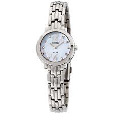 Seiko tressia Solar Madre de Perla Dial Reloj De Señoras SUP353