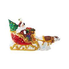 NEW 2017 Christopher Radko Polar Bear Run Glass Christmas Ornament 1018726