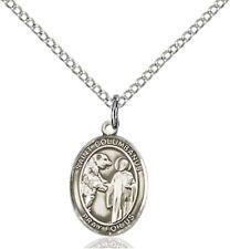 Sterling Silver Saint Columbanus Charm Medal, 1/2 Inch