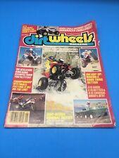 DIRT WHEELS MAGAZINE JAN. 1986 HONDA ATC 350X, 4-TRAX 250R YAMAHA TRI-Z, BW200