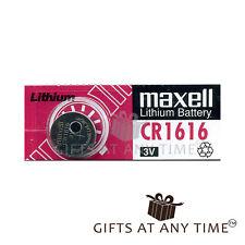BRAND NEW Maxell Lithium Batteries CR1616 3V Single Pack