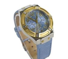 Guess Ladies Jet Setter Blue Watch with Leather Strap W0289L2