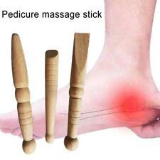 3X Foot Massage Stick/ Reflexology Health Wooden Massage Tool With Chart Gifts