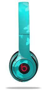 Skin Beats Solo 2 3 Bokeh Butterflies Neon Teal Wireless Headphones NOT INC