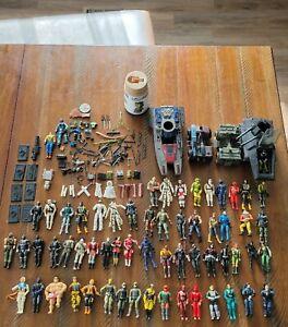 Huge Lot of GI JOE and Cobra Figures, Vehicles, Accessories Some 1980s, 90s +++