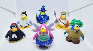 Lot of 6  Disney Club penguin toys characters with interchangeable pieces