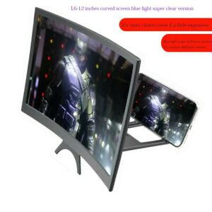 12 Inch Curved Mobile Phone Screen Amplifier for Andriod Ios Smart Phone Stand