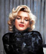 Di CAPRI ORIGINALE dipinto ad olio su tela Marilyn Monroe Ritratto | Bianco Edizione 12