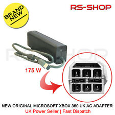New Original Microsoft Xbox 360 UK AC Adapter Brick 175W Power Supply