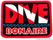 DIVE BONAIRE - EMBROIDERED PATCH SCUBA DIVING FLAG LOGO IRON-ON TRAVEL SOUVENIR