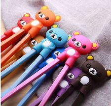 New Pretty Bear Rubber Children training chopsticks randomization sent 1pairs
