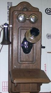 KELLOGG CATHEDRAL TOP PICTURE FRAME FRONT WOOD WALL TELEPHONE