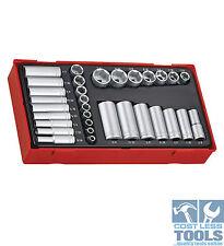 "Teng Tools 32 pce Regular & Deep Socket Set 1/4"" & 3/8"" TTAF32"