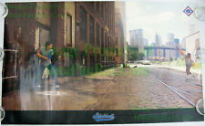 Vintage NIKE Poster ☆ STICKBALL Dale Murphy Dwight Gooden ☆ WTC Brooklyn Bridge