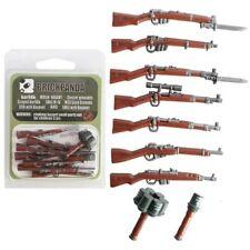 Lego ww2 Lot D'armes Militaire Grenade Anti-char Fusils Soldat Figurines pack