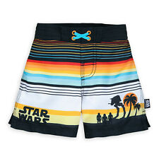 Boys STAR WARS SWIM TRUNKS Shorts Bathing Suit Child Medium 7 8 Disney Store