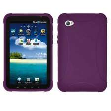 AMZER Silicone Skin Jelly Case Cover For Samsung GALAXY Tab GT-P1000 - Purple