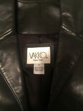 Leather Jacket  Women's New NWOT Size Small VAKKO New York