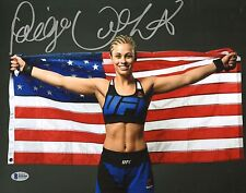 Paige VanZant Signed 11x14 Photo BAS Beckett COA UFC USA Flag Picture Autograph