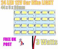12V 24 LED Light 3W 5730 SMD Car Interior Dome Reading Lamp 3M ADHESIVE BACK