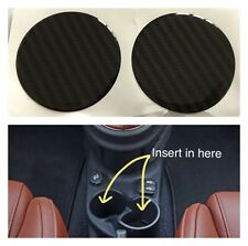Fiat 500 Abarth Cup Holder Ashtray Carbon Fibre Effect Insert All Sizes Made X2